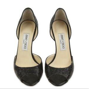 Jimmy Choo peep toe shoes
